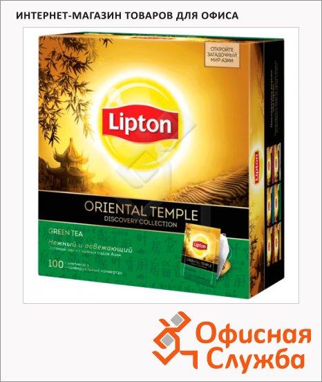 Чай Lipton Discovery Collection Oriental Temple, зеленый, 100 пакетиков
