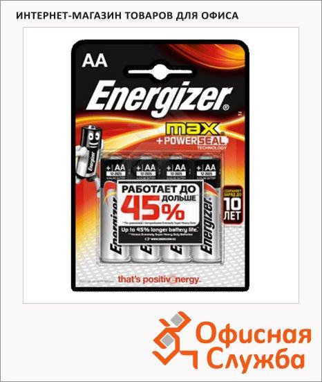 фото: Батарейка Energizer Max АА/LR6 1.5В, алкалиновые, 4шт/уп