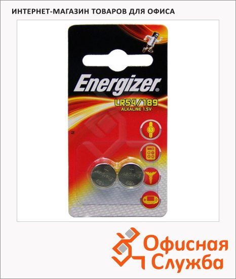 фото: Батарейка Energizer LR54/189 FSB2 алкалиновая, 2шт/уп