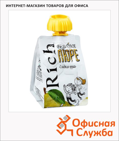 Фруктовое пюре Rich сладкая груша, 0.11л