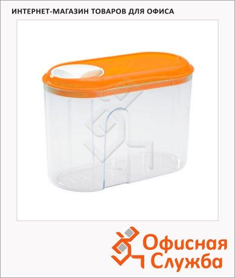 фото: Банка для сыпучих продуктов Бытпласт 1л пластик, с плотно прилегающей крышкой с дозатором