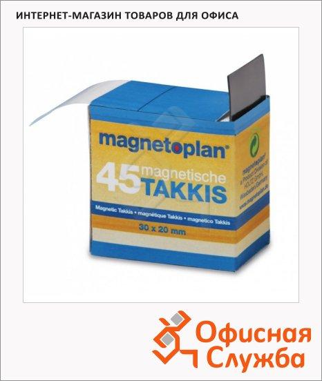 Лента магнитная для магнитной доски Magnetoplan 20х30мм, черная, 45 фрагментов