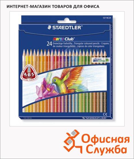 Набор цветных карандашей Staedtler NorisClub 24 цвета, 127NC24