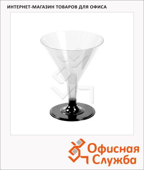 Бокал одноразовый для мартини Deniro прозрачный, 100мл, 6шт/уп