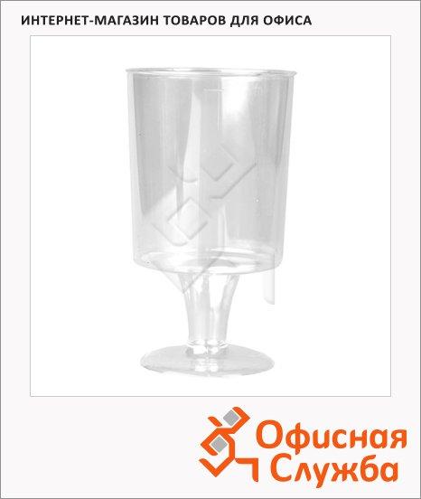 фото: Бокал одноразовый для вина Кристалл прозрачный 200мл, 10шт/уп