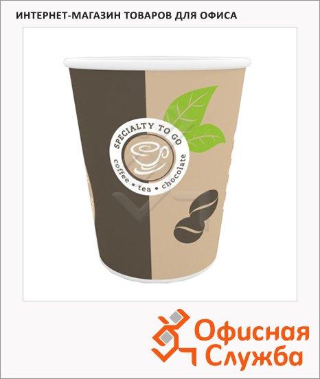 Стакан одноразовый Huhtamaki Coffe-to-go 200 мл, бумажный, 50шт/уп