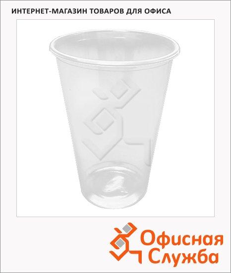 Стакан одноразовый Интеко 330мл, пластиковый прозрачный, 50шт/уп