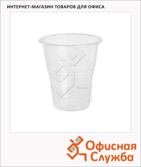 Стакан одноразовый Интеко 100мл, пластиковый прозрачный, 100шт/уп
