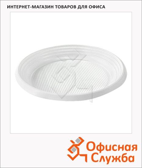 фото: Тарелка одноразовая Эконом белая d=20.5cм, 100шт/уп