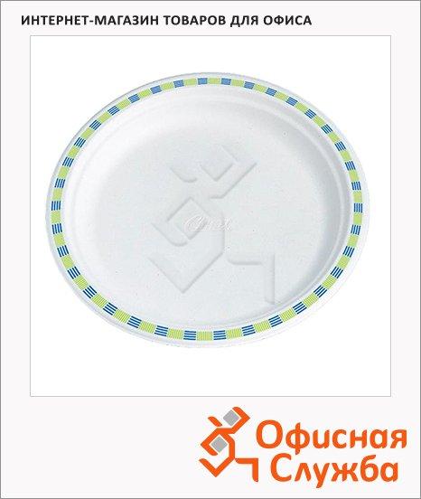 фото: Тарелка одноразовая Huhtamaki Chinet Flavour белая d=22см, 50шт/уп