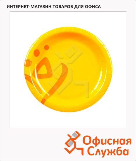 Тарелка одноразовая Huhtamaki Whizz d=15см, желтая, 50шт/уп, 100шт/уп
