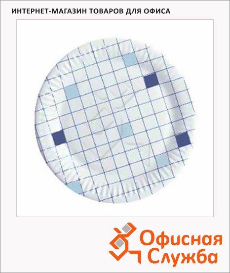 фото: Тарелка одноразовая Huhtamaki d=18см клетка, 50шт/уп