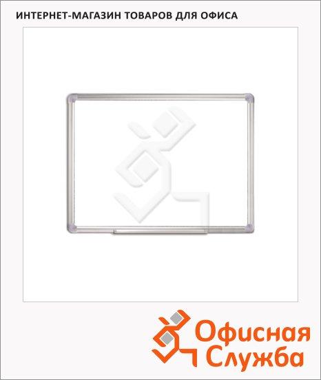 фото: Доска магнитная маркерная Staff 45х60см белая, лаковая, алюминиевая рама, полочка