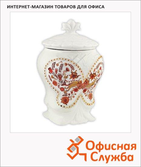 Чай Hilltop Цветочный орнамент с чабрецом, черный, листовой, 100г, в чайнице