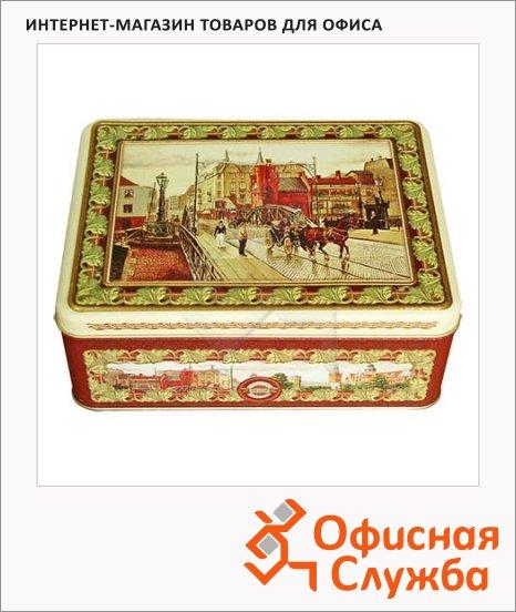 Набор чая Hilltop Английская шкатулка, 4 сорта, листовой, 200г, ж/б, с ситечком