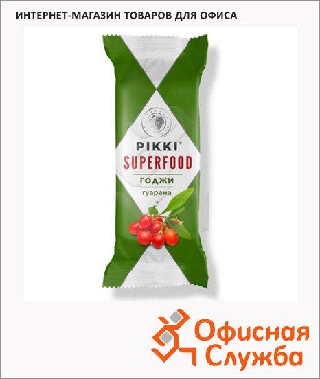 Батончик фруктово-ореховый Pikki годжи и гуарана, 35г
