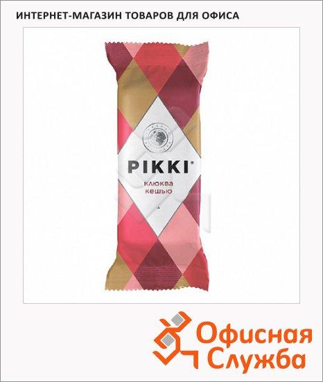 Батончик фруктово-ореховый Pikki клюква и кешью, 35г