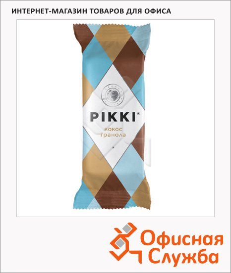 Батончик фруктово-ореховый Pikki кокос и гранола, 35г