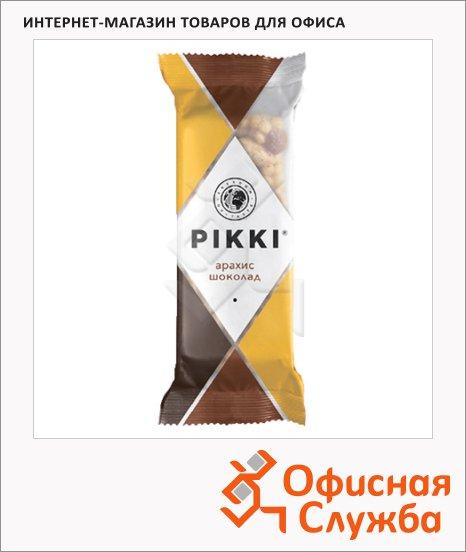 Батончик фруктово-ореховый Pikki арахис и шоколад, 35г