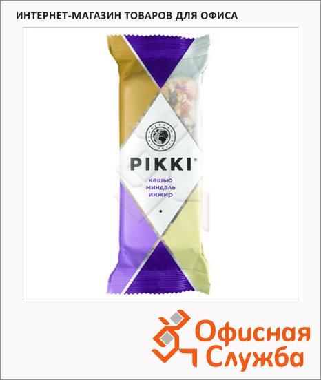 Батончик фруктово-ореховый Pikki кешью с миндалем и инжиром, 35г