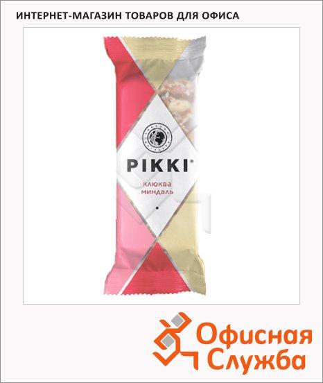 Батончик фруктово-ореховый Pikki клюква и миндаль, 35г