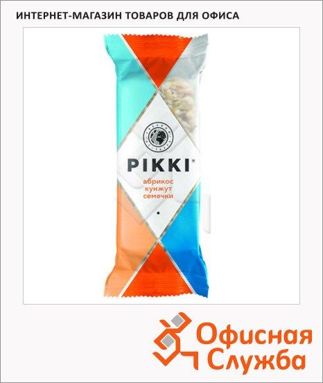 Батончик фруктово-ореховый Pikki абрикос кунжут семечки, 35г