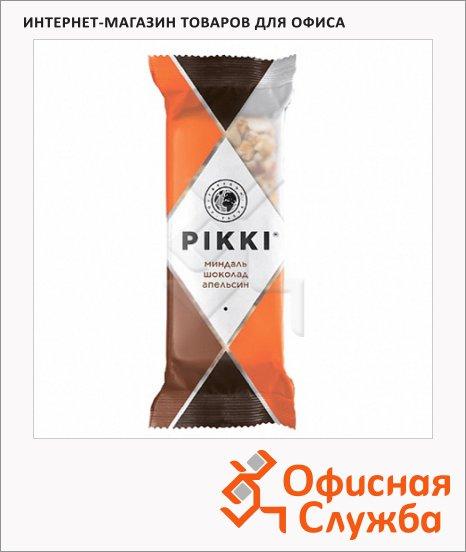 Батончик фруктово-ореховый Pikki миндаль с шоколадом и апельсином, 35г