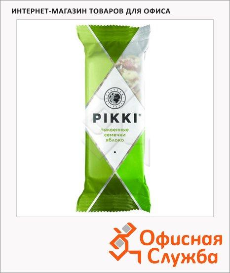 Батончик фруктово-ореховый Pikki тыквенные семечки и яблоко, 35г