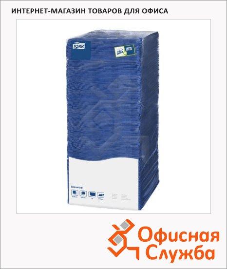 Салфетки сервировочные Tork Universal синие, 25х25см, 1 слой, 500шт, 478667