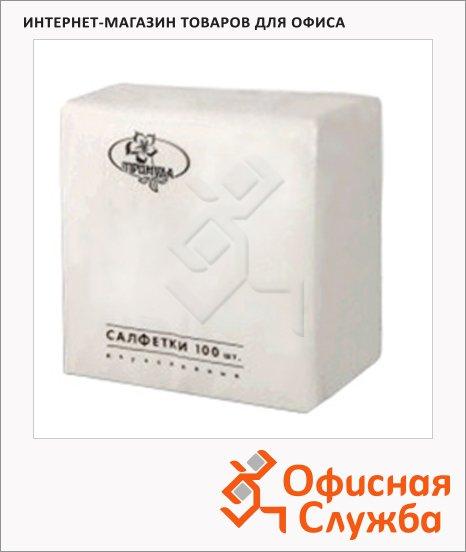 Салфетки сервировочные белые, 24х24см, 1 слой, 100шт
