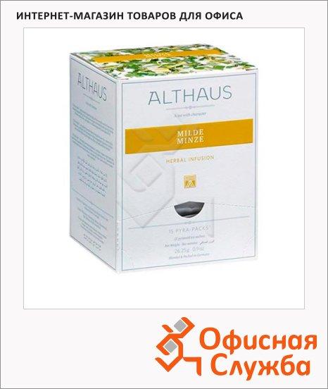 фото: Чай Althaus Milde Minze травяной, листовой, в пирамидках, 15 пакетиков
