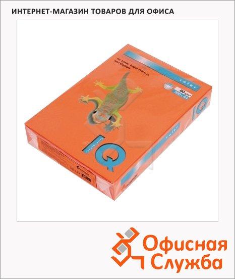 Цветная бумага для принтера Iq Color оранжевая, А4, 80г/м2, OR43, 500 листов