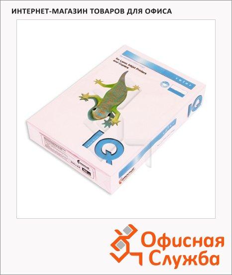 Цветная бумага для принтера Iq Color розовая, А4, PI25, 100 листов, 80г/м2