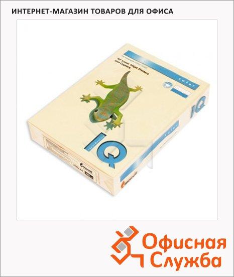Цветная бумага для принтера Iq Color темно-кремовая, А4, SA24, 500 листов, 80г/м2