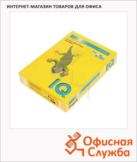 Цветная бумага для принтера Iq Color солнечно-желтая, А4, 500 листов, 80г/м2, SY40