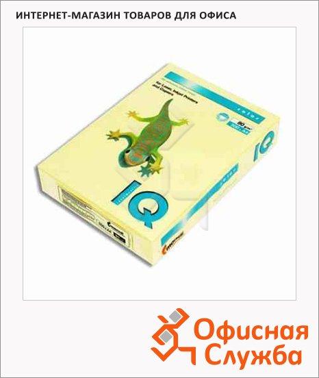 Цветная бумага для принтера Iq Color желтая, А4, 80г/м2, YE23, 100 листов