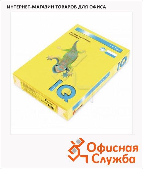 Цветная бумага для принтера Iq Color лимонно-желтая, А4, ZG34, 100 листов, 80г/м2