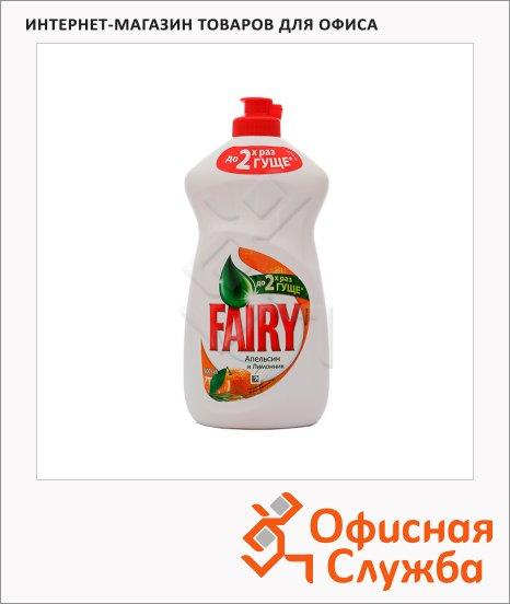 Средство для мытья посуды Fairy OXI 0.5л, гель, апельсин/ лимонник