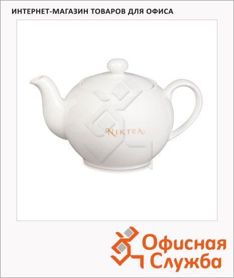 фото: Чайник заварочный Niktea 450мл фарфор, цвет слоновая кость