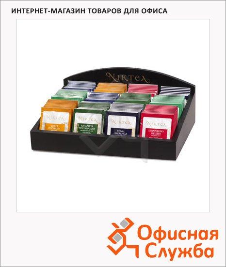 фото: Шкатулка для презентаций Niktea 120-150 пакетиков 29х22х12см, дерево, черная, матовый лак
