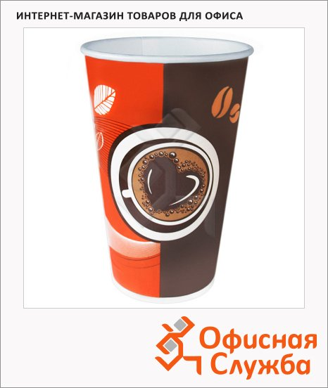 фото: Стакан одноразовый Huhtamaki Кофе с собой 400мл бумажный, 50шт/уп