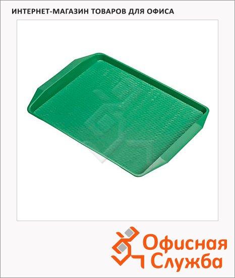 Поднос для фаст-фуда зеленый, 42х32см