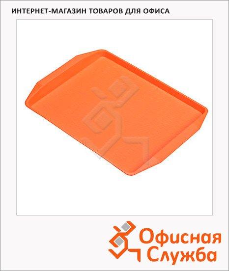 фото: Поднос для фаст-фуда оранжевый 42х32см, 42х32 см