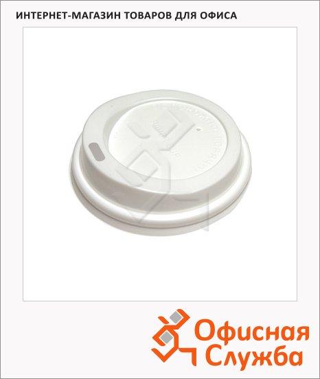 Крышки для одноразовых стаканов Lavazza без носика на 270мл, белая, 100шт/уп