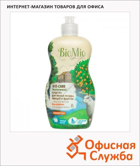 Средство для посуды и детских принадлежностей Bio Mio Эко 0.45л, эфирное масло мандарина/ экстракт хлопка, концентрат