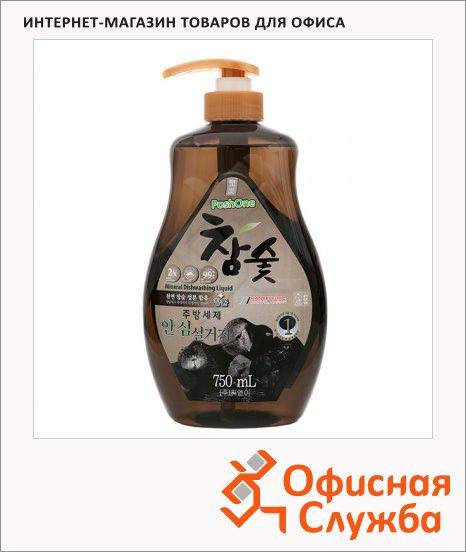 Средство для мытья посуды Posh One 750мл, с экстрактом древесного угля, гель