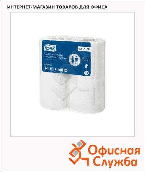 Туалетная бумага Tork Advanced T4, 120158, 2 слоя, белая, 4 рулона