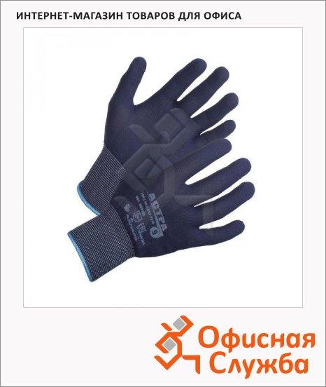 фото: Перчатки нейлоновые Ампаро Астра р.L 1 пара, синие, нейлон, 460125