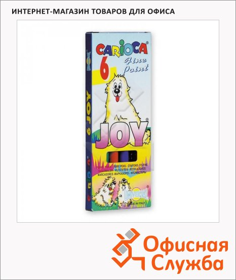 фото: Фломастеры для рисования Joy 6 цветов смываемые, смываемые