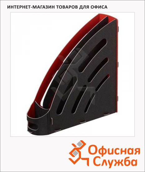 фото: Накопитель вертикальный для бумаг Attache Selection А4 95мм, черно-красный